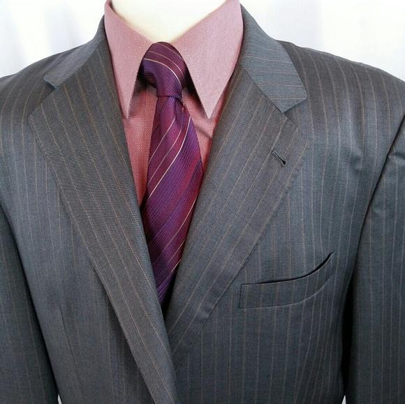 898928f61 Charles Clayton Masterpiece Suits & Blazers   Super 48l Graystripe ...